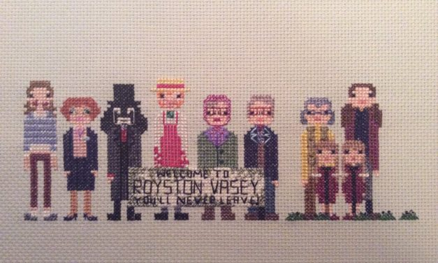 "League of Gentlemen Cross-Stitch – ""This is a local shop …"""