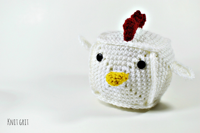 Your New Obession: Crochet a Colorful Cock Block Safe for Work