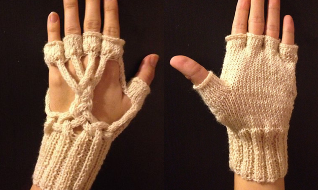 White Tree of Gondor Gloves by Natalia of Elfmoda