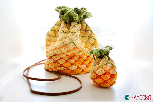 On Your Arm! It's a Pineapple, No, It's a Purse … Get This Unique Pattern Now!