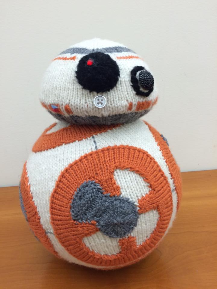 My Favorite Knitted BB-8 - Knit by K80K80K80 aka Katie Freeman