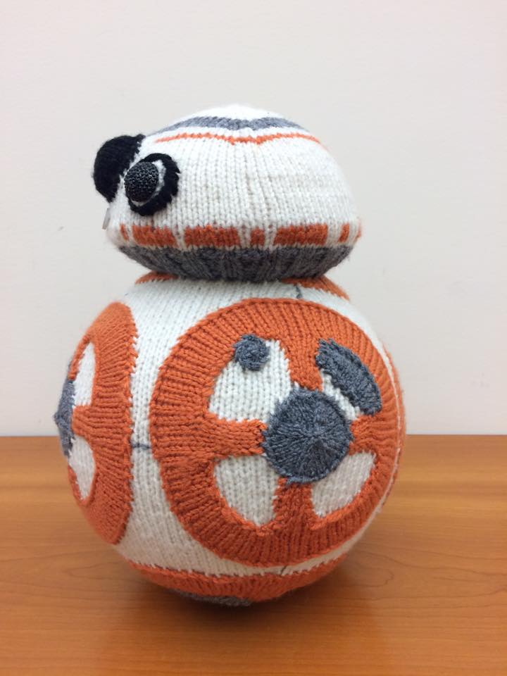 My Favorite Knitted BB-8 - Knit by K80K80K80 aka Katie Freemann
