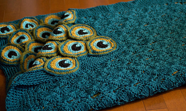 Yes, That Pretty Peacock Blanket … It's Two Afghans In One!