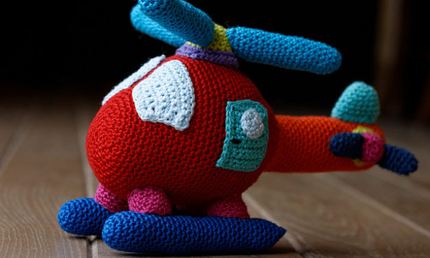 Colorful Crochet Chopper – What an Adorable Amigurumi Helicopter!