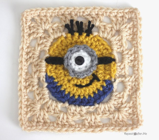 This Silly Granny Square Is One In a Minion …