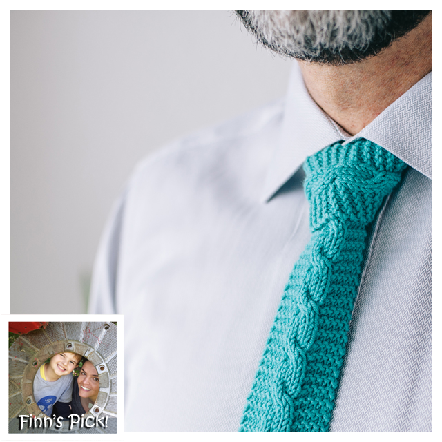 Finn's Pick: Knit Father's Day Tie - Free Pattern!