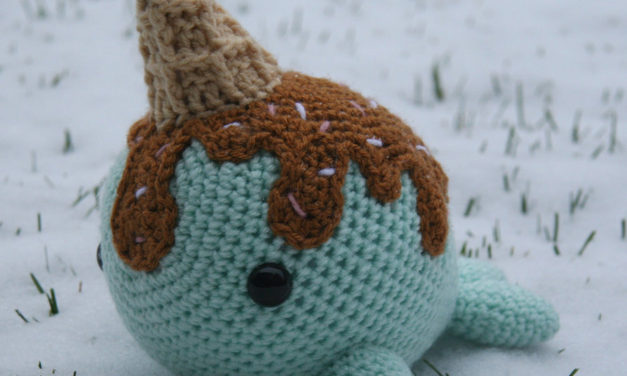 She Crocheted This Lovable Ice Cream Narwhal Amigurumi For Her Brother