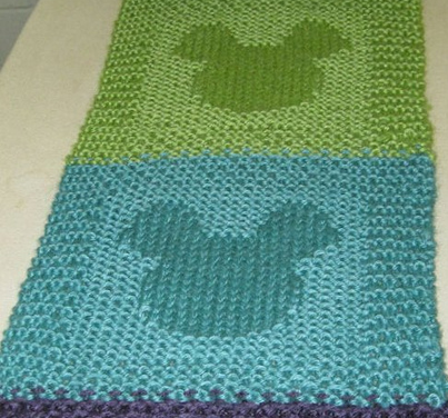 Knit a Mickey Mouse Scarf – Get the FREE Pattern!