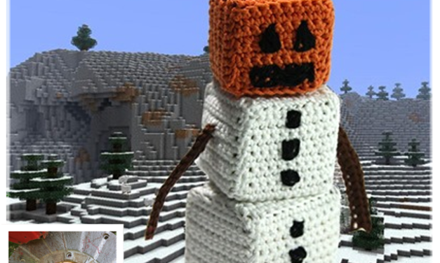 Finn's Pick: Crochet Snow Golem From Minecraft