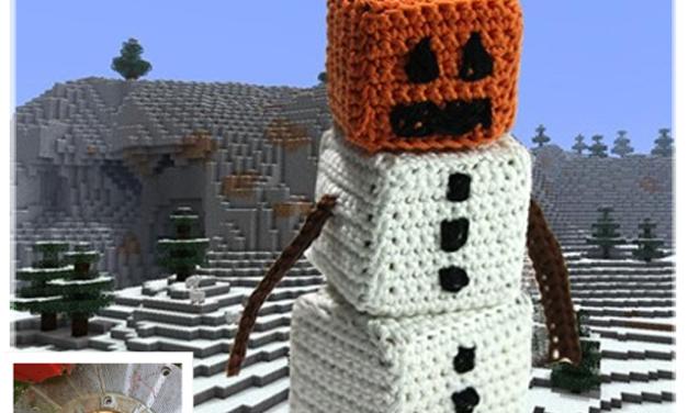 Finn's Pick: Crochet Snow Golem From Minecraft