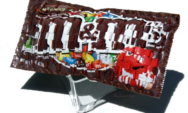 Weaving With Wrappers – Marvelous M&M Art by Peggy Dembicer