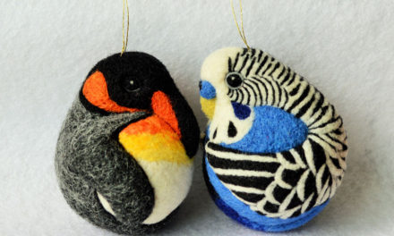 Linda Brike's Beautiful Felted King Penguin and Budgie