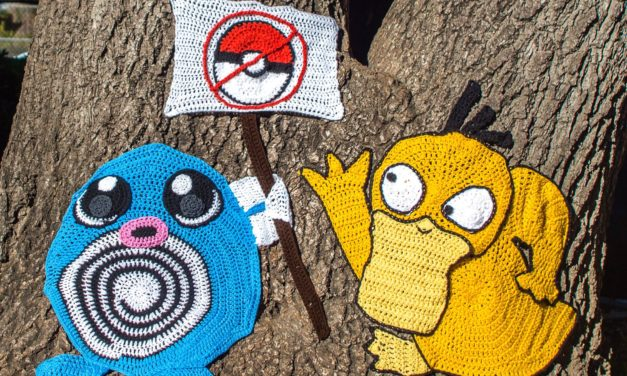 The Pokémon Poke Back in San Mateo! Catch a New Yarn Bomb From Knits For Life … Go Go Go!
