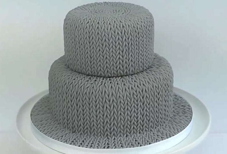 Think You Can't Bake a 'Knitted Cake' Watch This Tutorial and Think Again!