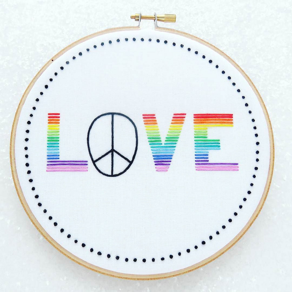 We All Need Some of This Today ... LOVE Embroidery!