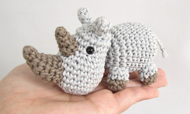 Let's Crochet for World Rhino Day! Free Pattern!