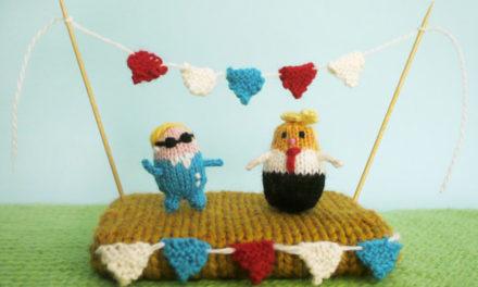 Knit a Tiny Hillary or a Tiny Trump – FREE Pattern from MochimochiLand