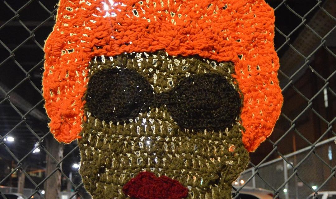 """The Queen of Salsa"" — Celia Cruz Yarn Bomb by AlexCreates"