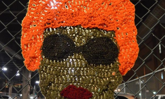 """The Queen of Salsa"" — Celia Cruz Yarn Bomb by AlexCreates"