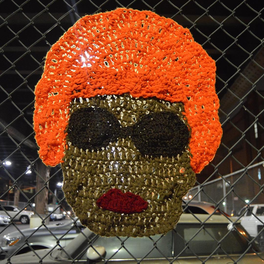 'The Queen of Salsa' -- Celia Cruz Yarn Bomb by AlexCreates