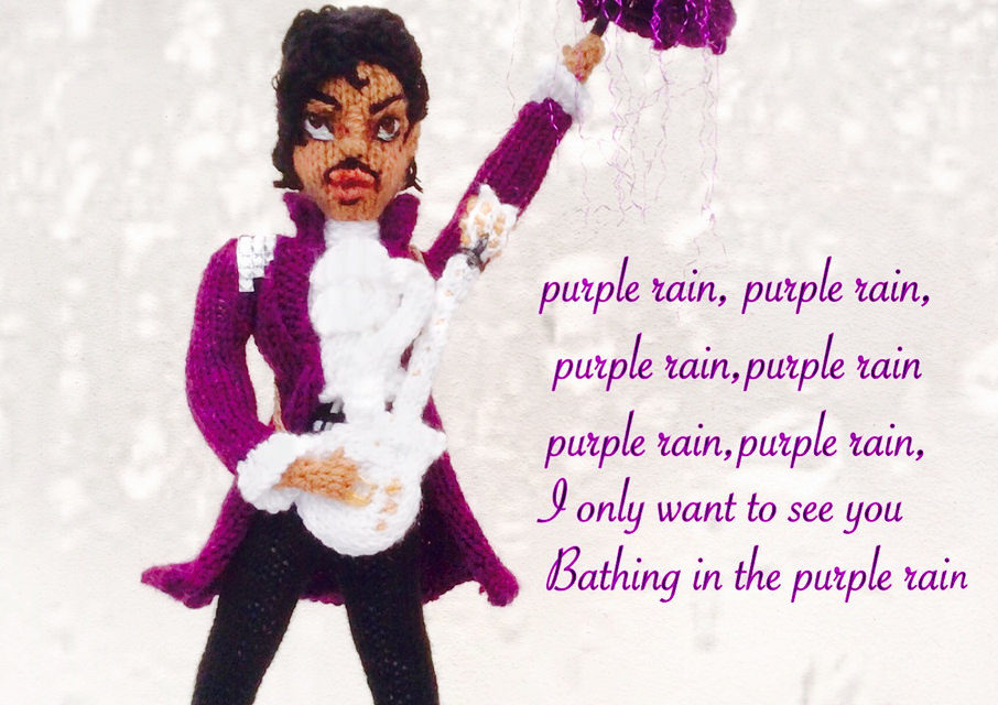 Knitted Prince Doll by Denise Salway, Inspired by Purple Rain