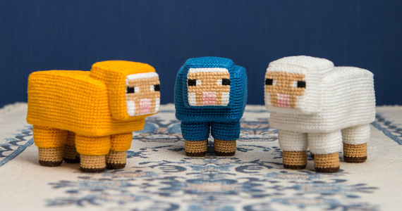 Finn's Pick: Crochet a Herd of Minecraft Sheep
