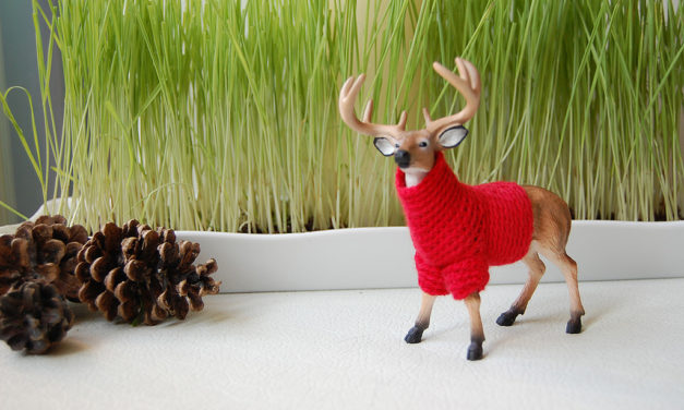 There's Something About This Tiny Reindeer in a Sweater …