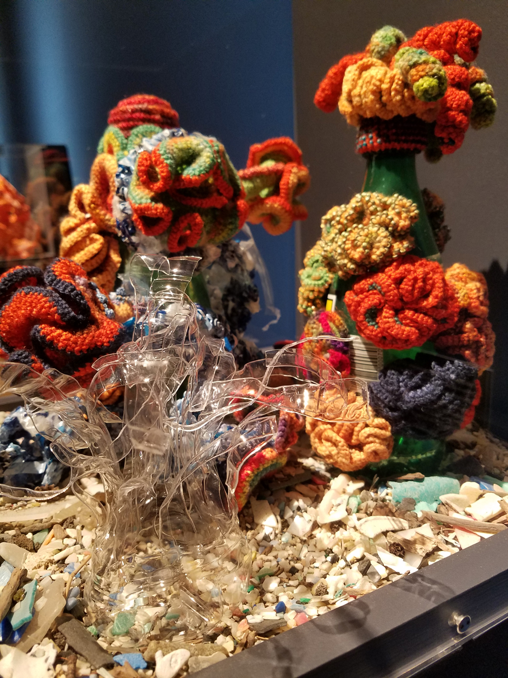 'Crochet Coral Reef: TOXIC SEAS' at the Museum of Arts and Design (MAD) in New York City
