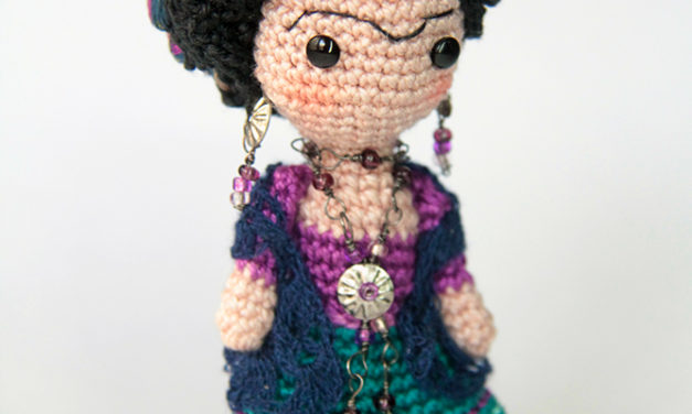 An Adorable Frida Kahlo Amigurumi Brooch That Will Melt Your Heart