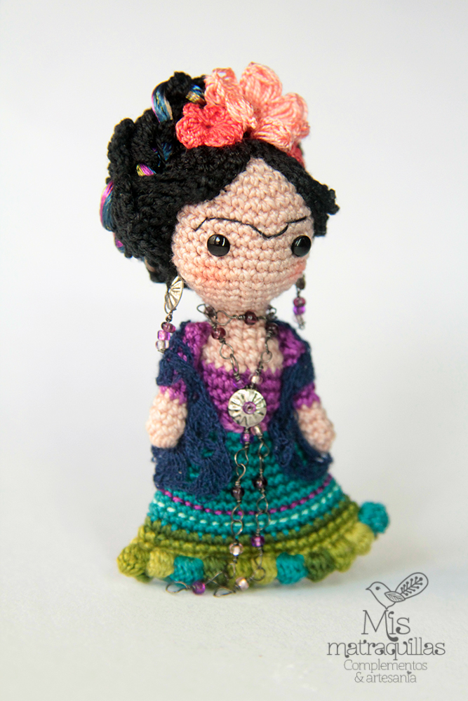 An Adorable Frida Kahlo Amigurumi Brooch That Will Melt Your Heart - Crochet at Its Best!
