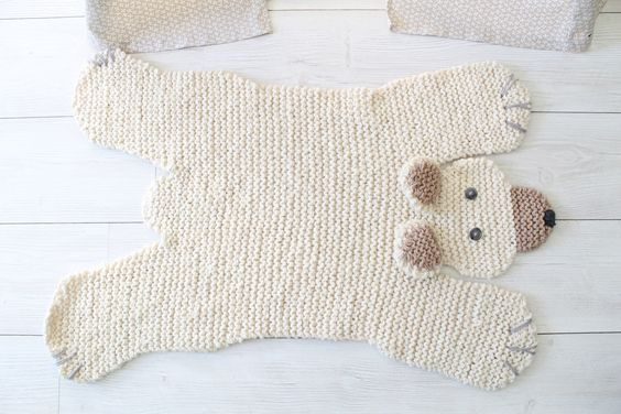 Can't Give Someone You Love a Bear Hug? Knit Them a Bear Rug!