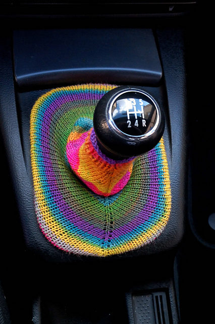 How To Knit a Stickshift Cover – Proof You Can Yarn Bomb Anything!