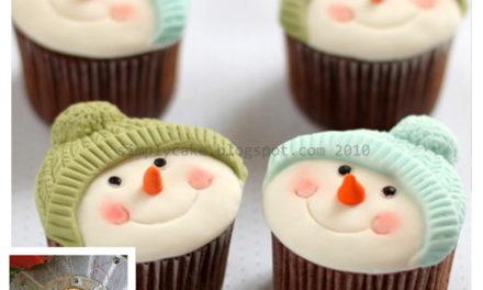 Finn's Pick: Snowmen in Knit Hats Cupcakes