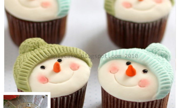 Finn's Pick: Snowmen in Knit Hats Cupcakes