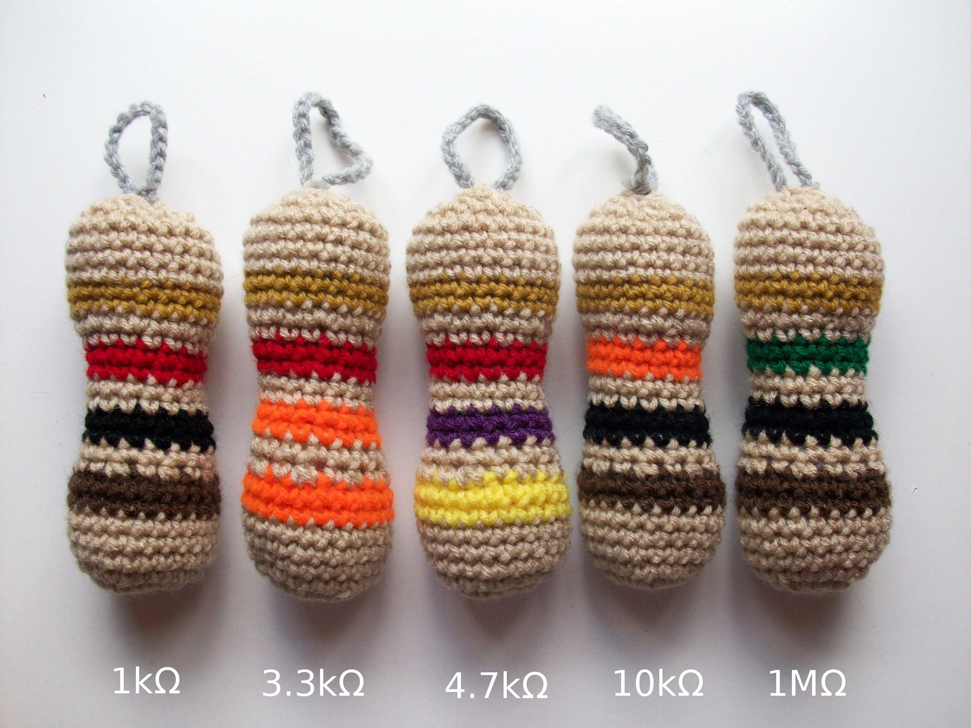 You Can Make Anything Into Adorable Amigurumi - Check Out These Colorful Resistors!