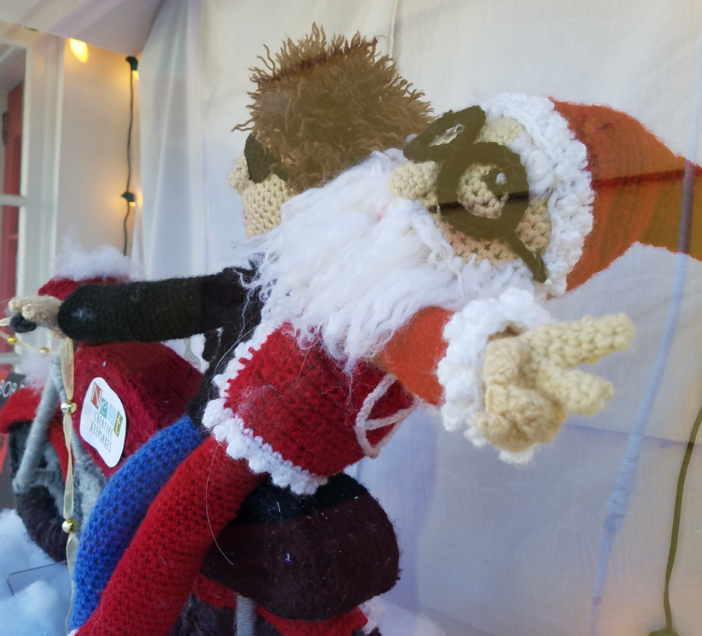 Here Comes Crochet Santa Claus ... on Crochet Bob Dylan's Crochet Motorcycle!