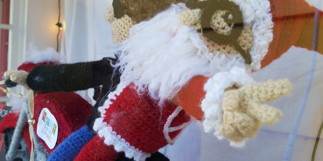 Here Comes Crochet Santa Claus … on Crochet Bob Dylan's Crochet Motorcycle!