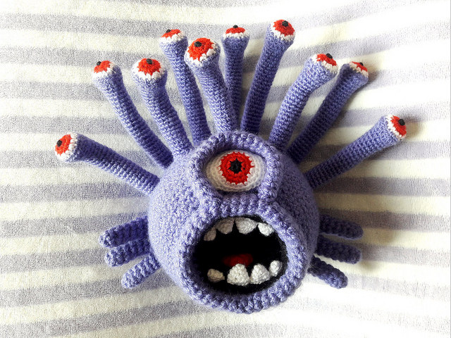 Breathtaking … a Crocheted 'Beholder' Amigurumi – Must-See for Dungeons & Dragons Fans