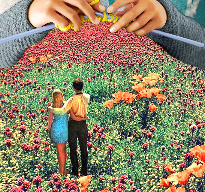 """Neat Knitting"" – a Surreal Collage by Eugenia Loli"