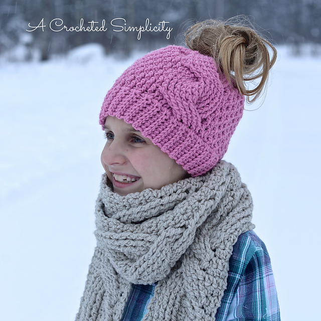 ae614e3d525 The Best Messy Bun Crochet Hat Patterns - The Definitive Ponytail Hat  Collection!