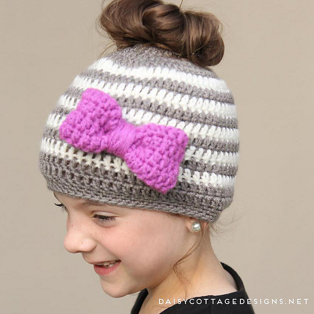The Best Ponytail Hat Patterns Aka Messy Bun Beanies For Little