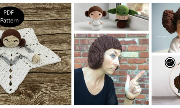 Pay Tribute to Carrie Fisher With 9+ Knit and Crochet Princess Leia Patterns