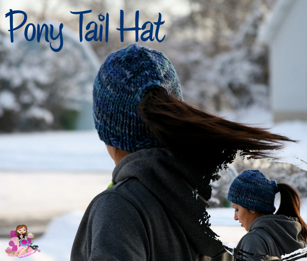 9890c0d6944 The Best Free Knit Ponytail Hat Patterns (aka Messy Bun Beanies) – a ...