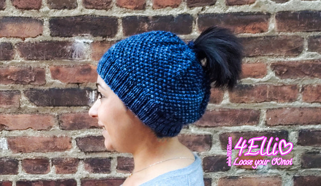 878948643ac The Best Free Knit Ponytail Hat Patterns (aka Messy Bun Beanies) – a Popular