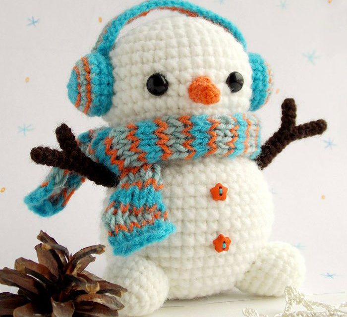 Snowmen Amigurumi Come From Yarn, Unassembled – Want to Crochet One?
