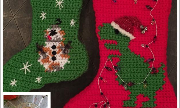 Finn's Pick: Crochet T-Rex & BB8 Christmas Stockings – Dinosaurs & Star Wars!