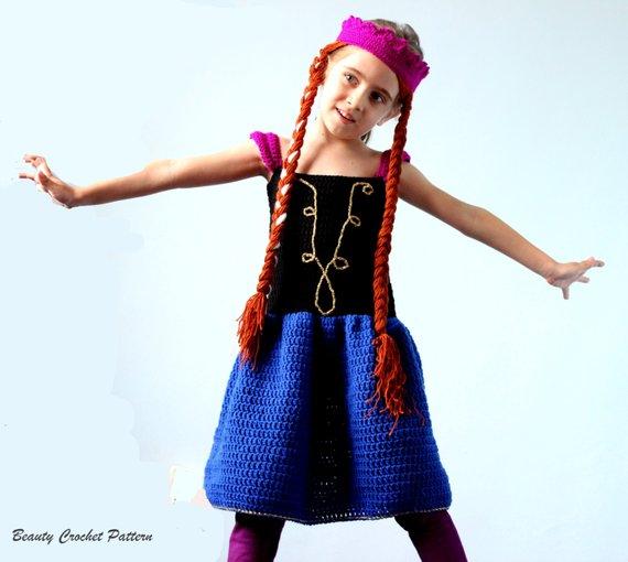Crochet Anna Dress and Wig Pattern from Beauty Crochet Pattern