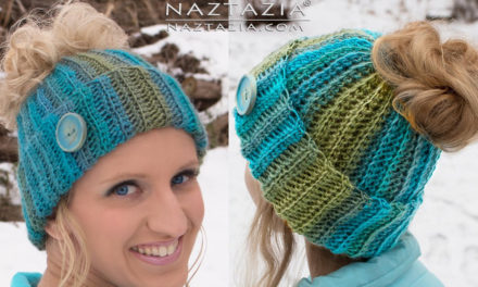 How To Crochet a Ponytail Hat (aka Messy Bun Beanie) – Video Tutorial by Donna Wolfe from Naztazia