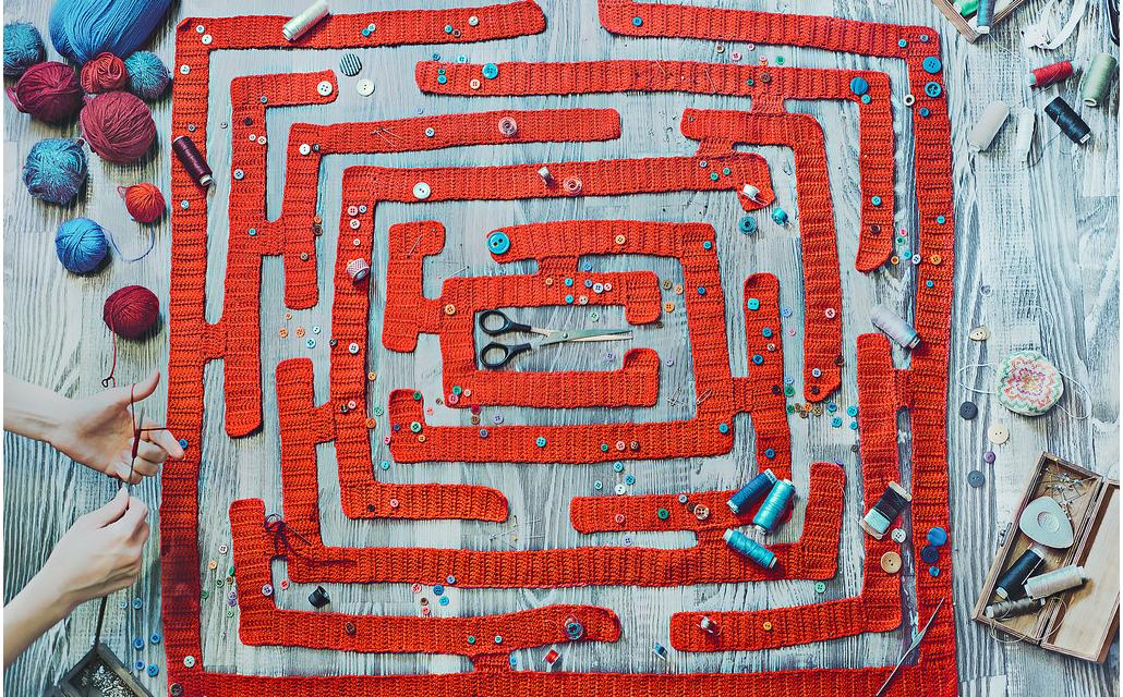 Dina Belenko's Crochet Maze for Wes Anderson