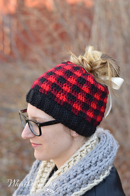 The Best Free Crochet Ponytail Hat Patterns Aka Messy Bun Beanies Custom Ponytail Beanie Crochet Pattern